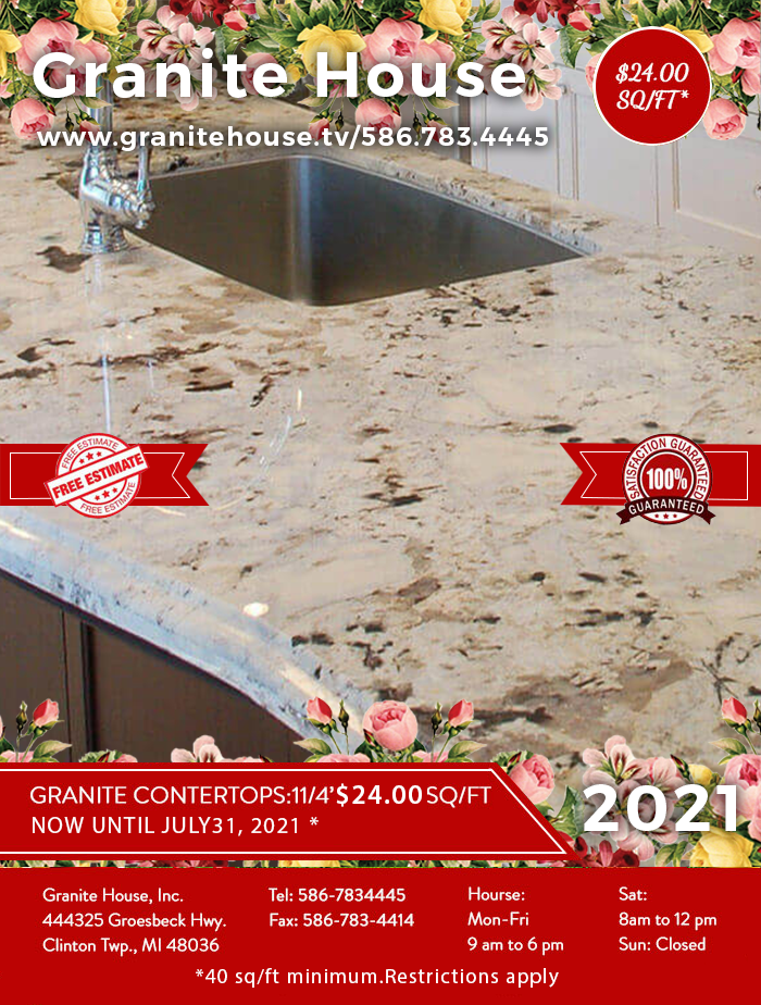 2019 Sale of the Month - Granite Kitchen Countertops $24 sq/ft installed